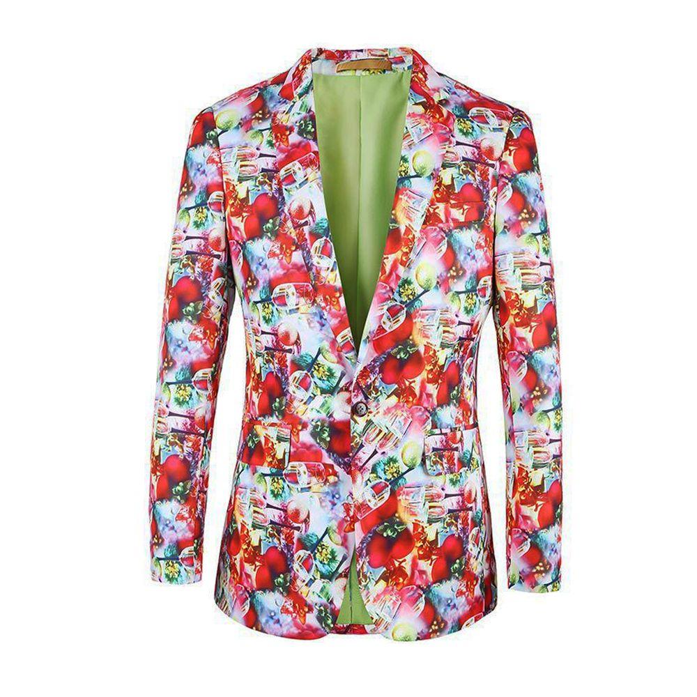 2017 2017 Mens Blazers Christmas Fashion Floral Jacket Men New ...