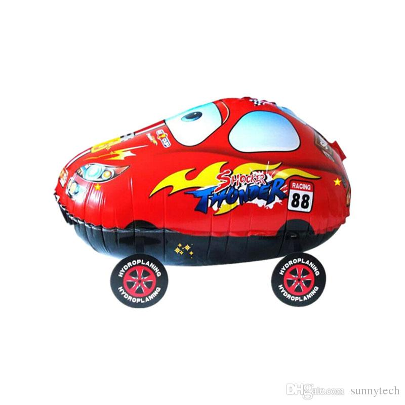 55 * 25 cm Dos Desenhos Animados Vermelho Azul Carro Andando Balão Folha Inflável Balões De Ar De Hélio Festa de Natal Clássico Brinquedos ZA1243