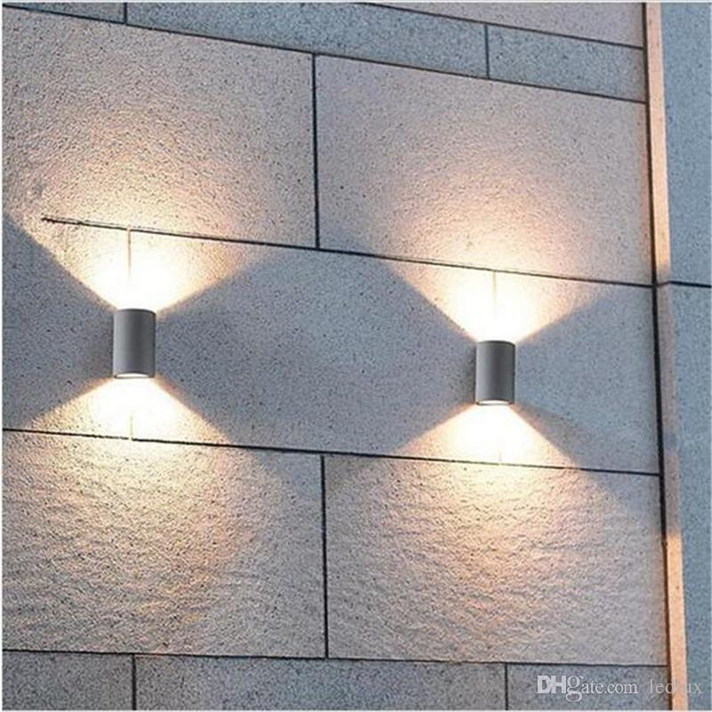 10pcs Ip65 Led Outdoor Waterproof Wall Lamp 6w Ac85-265v Up Down Light Surface Mount Outdoor Porch Garden Light Consumers First Led Outdoor Wall Lamps Lights & Lighting
