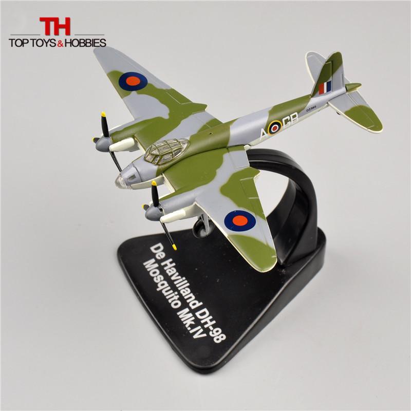 Atlas 1/144 Fighter WW2 British Attacker De Havilland DH-98 Mosquito MK IV  Alloy Airplane Model Diecast Toys Juguetes Collection