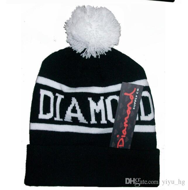 Diamond Supply Co. Welt Mütze mit Pom Beanies Hip Hop Snapback Frauen Hüte Custom Gestrickte Wollmützen mit Ball Snapbacks Männer Hut Cap