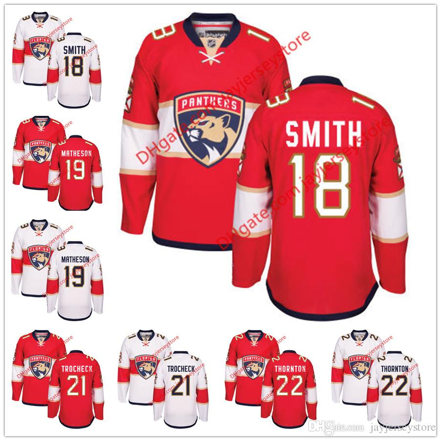 c8896a608 ... florida panthers mens premier hockey jersey white ... 2017 18 reilly  smith 19 mike matheson 21 vincent trocheck 22 shawn thornton . ...