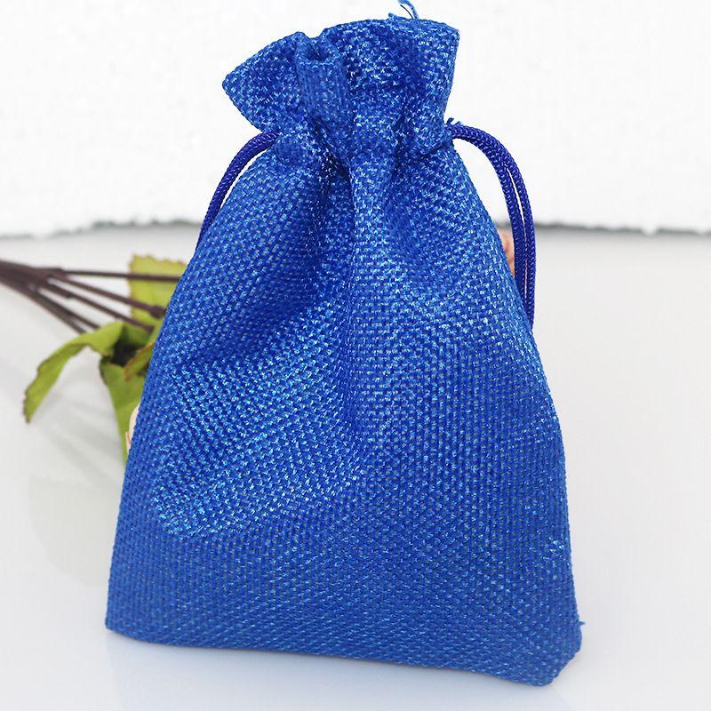 100 قطعة / الوحدة الخلاط الطبيعي الكتان القطن النسيج مجوهرات أكياس الرباط هدية الحقيبة مجوهرات الزفاف الحقائب 7 * 9 سنتيمتر 12 الألوان