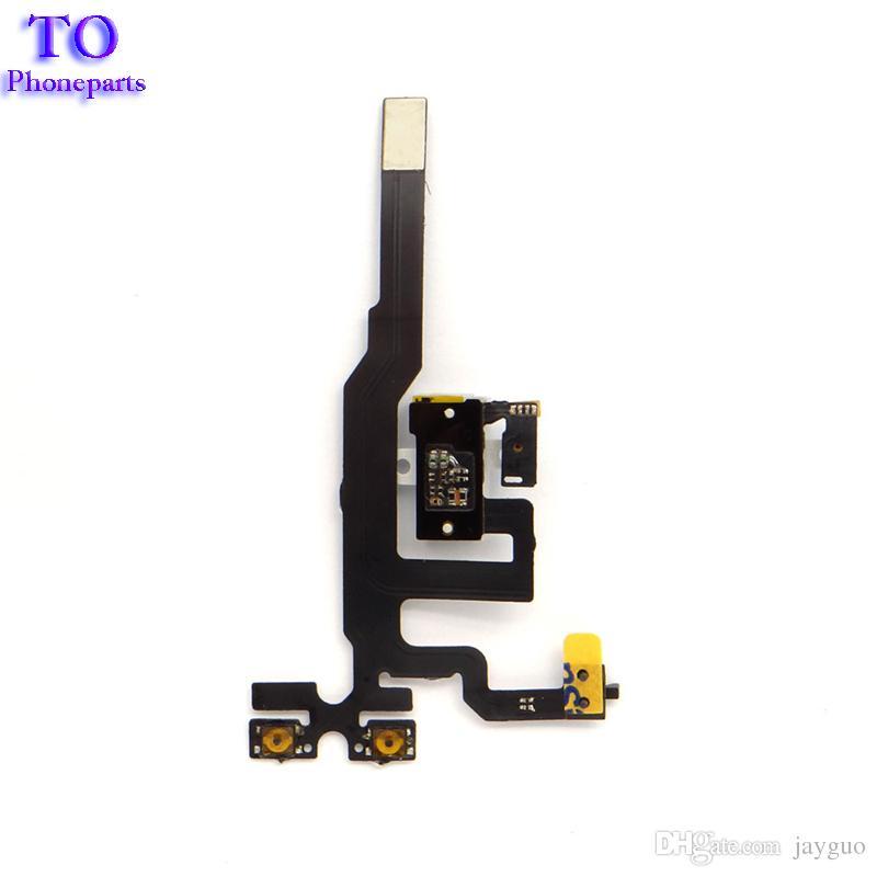 Hohe qualität ersatzteile für iphone 4s jack audio lautstärke stummschaltung stummschalter taste schlüssel flex kabel