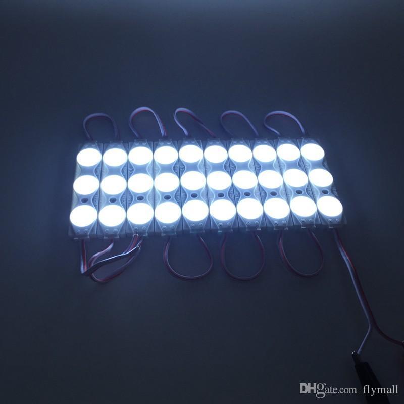 1.5W 2835 SMD Módulo de inyección LED DC 12V 3 chips Módulos de luz a prueba de agua Barra de publicidad Led rígida 160 ° Reflector