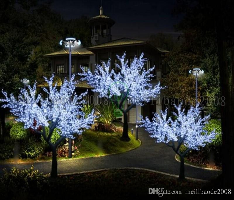 2017 NEW LED Cherry Blossom Tree Light LED Bulbs 2m Height 110 220VAC Seven Colors for Option Rainproof Outdoor Usage MYY