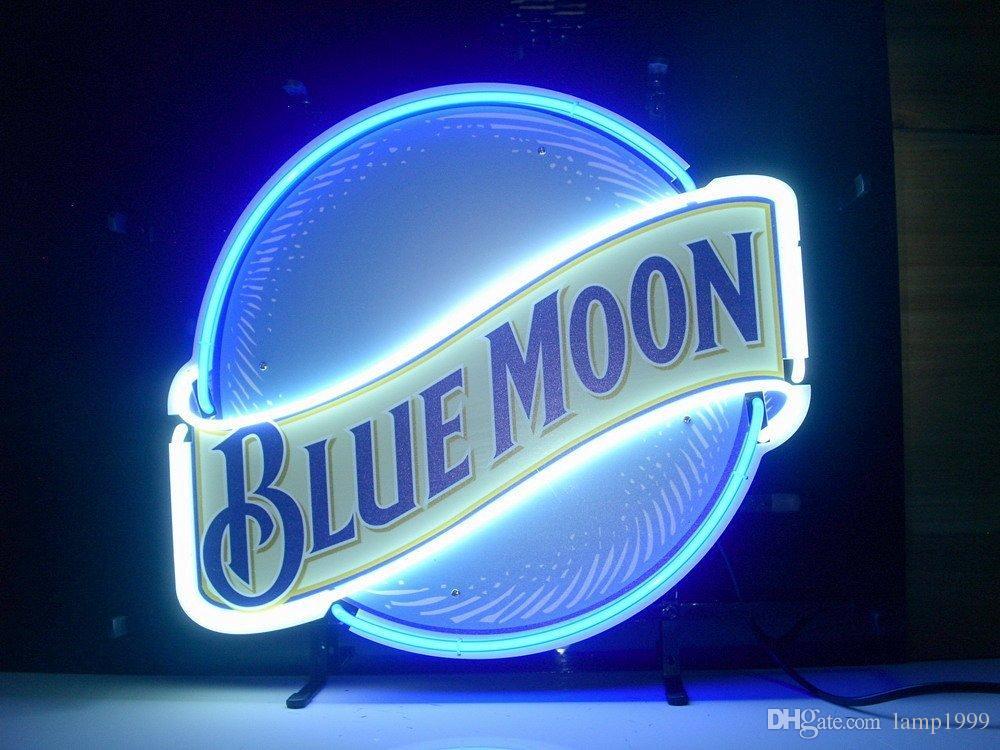2019 Brand New Blue Moon Neon Light Sign Glass Neon Sign