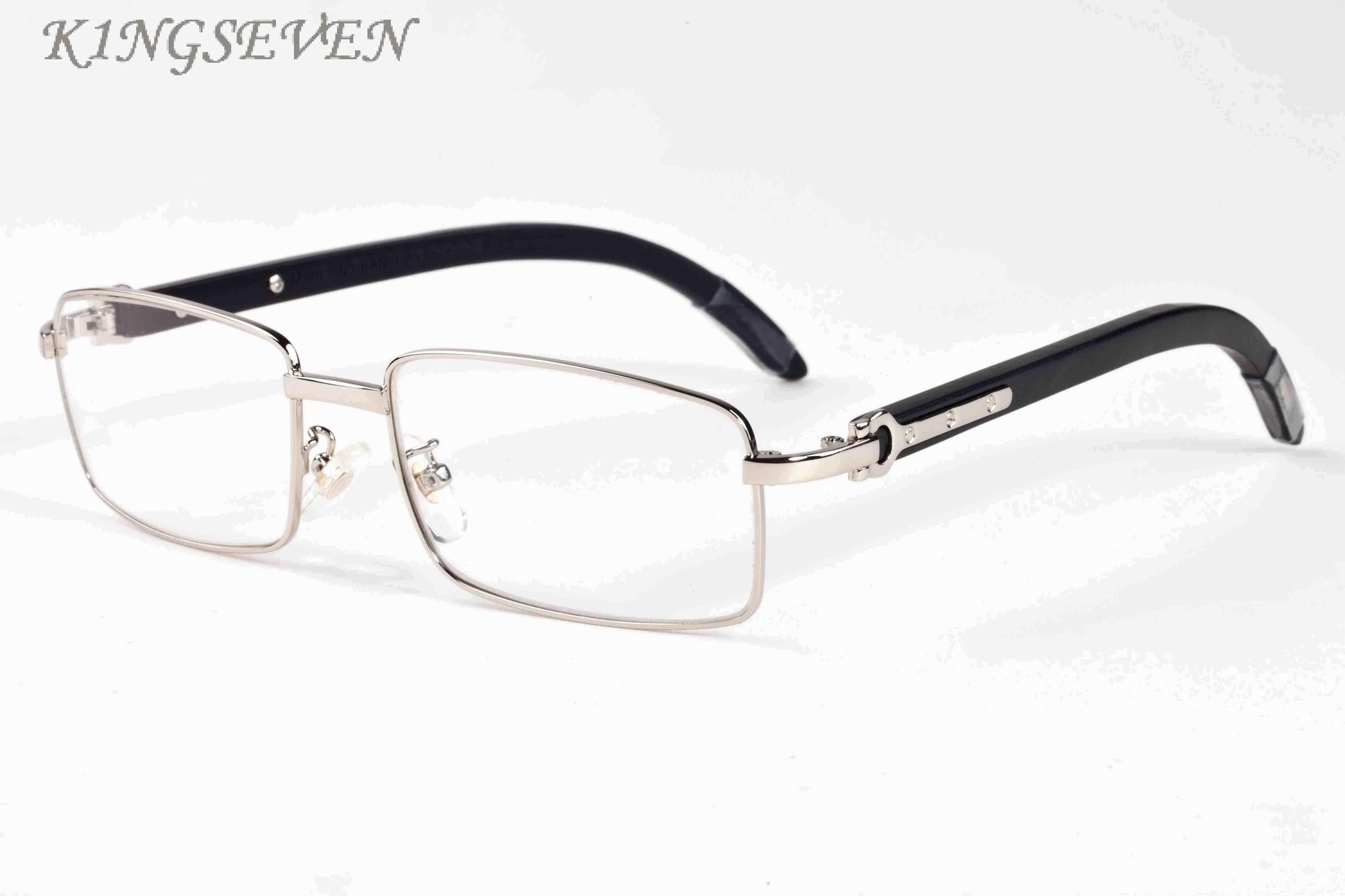 2018 high quality buffalo horn glasses for womens luxury designer sunglasses bamboo wood sunglasses full frame gold silver metal frame clear