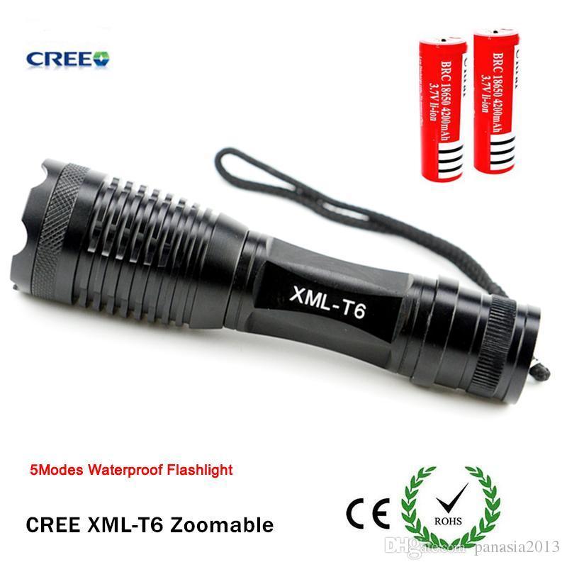 Nouvelle Arrivée Noir Ultrafire LED Lampes de Résistance Dur Cree XML T6 LED Torches pour Camping 2000 Lumen En Alliage D'aluminium Matériel Vente Chaude XML3T6