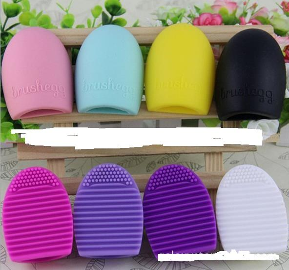 PRO Make Up Cosmetic brushegg Brushes Cleaner Cleaning Glove Silicone Remover Washing Board Egg Scrubber gift