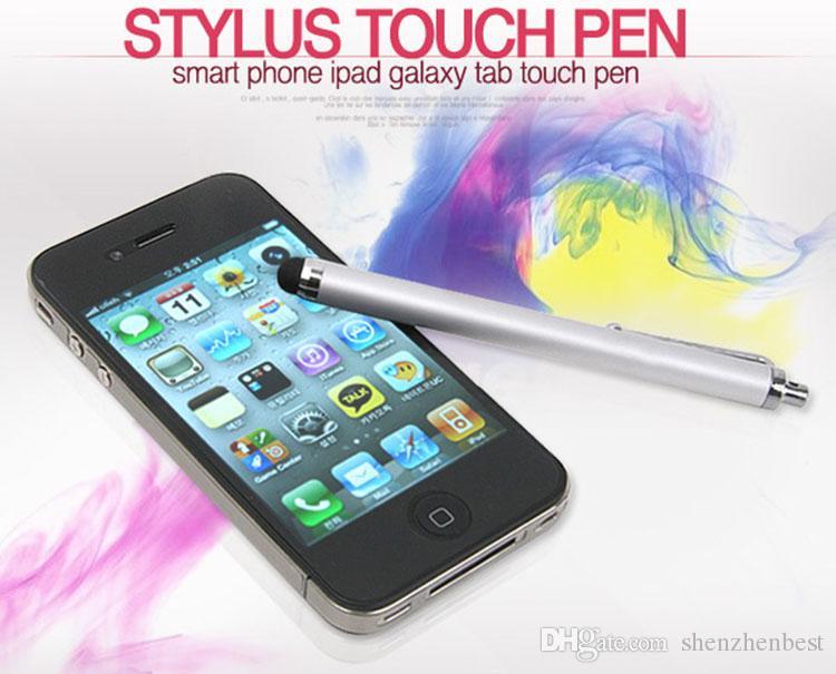 Pluma capacitiva al por mayor del tacto de la aguja del metal de la pantalla / con el clip para iphone3G 3GS 4 4S iphone 5 / iPad / mini iPad / iPod touch