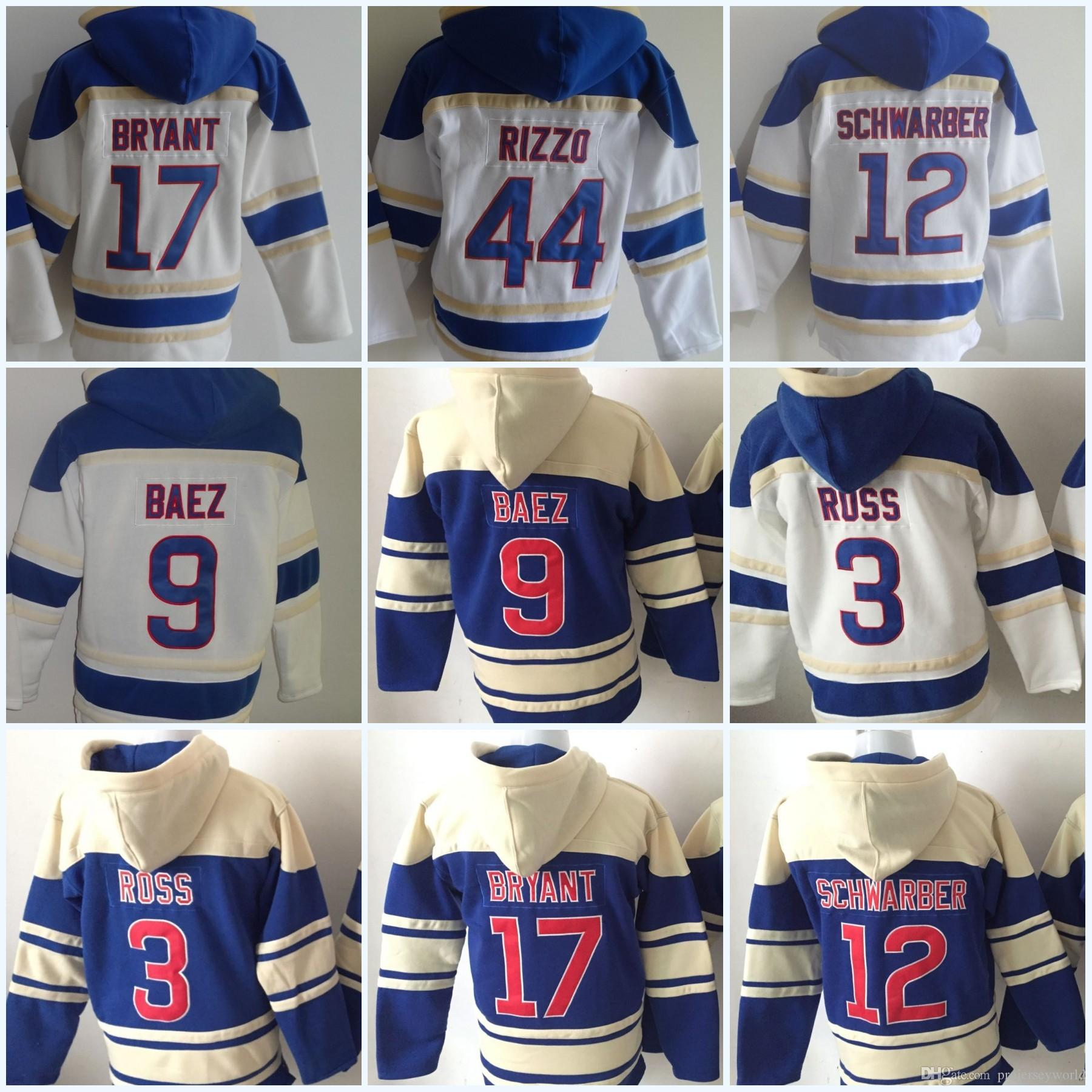 4606d4cf3 2019 Mens Newest 17 KrisBryant 9 Javier Baez 44 AnthonyRizzo 3 David Ross 12  Kyle Schwarber Hooded Sweater Baseball Jersey All Stitched From  Projerseyworld