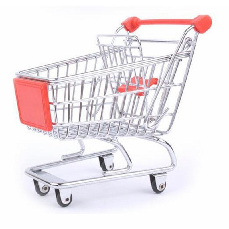 2017 yeni varış Vogue Sevimli Mini Alışveriş Sepeti Süpermarket Handcart Paslanmaz Çelik Modu Depolama