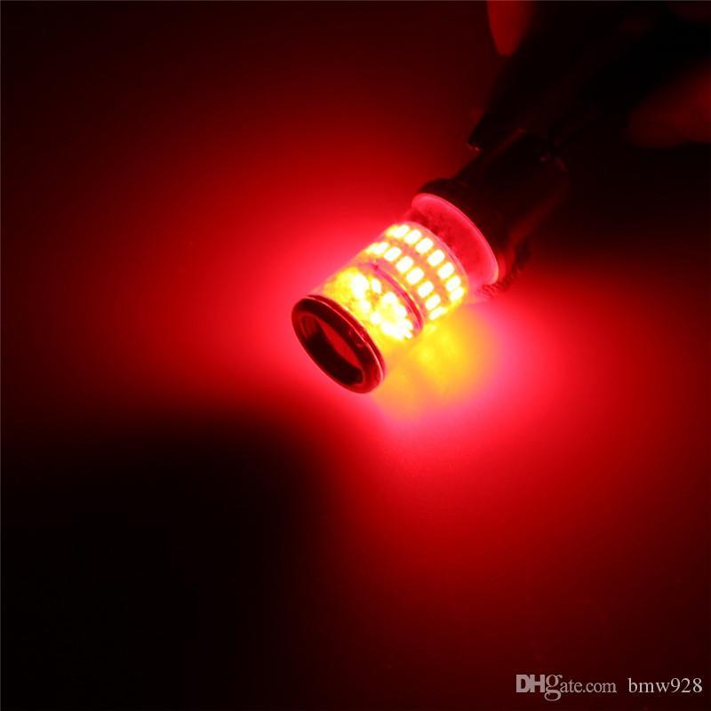 50 PZ / LOTTO 1156 3014-48SMD Car LED Lampadina Freno Posteriore Backup Indicatore di svolta Lampada Sostituzione 570LM