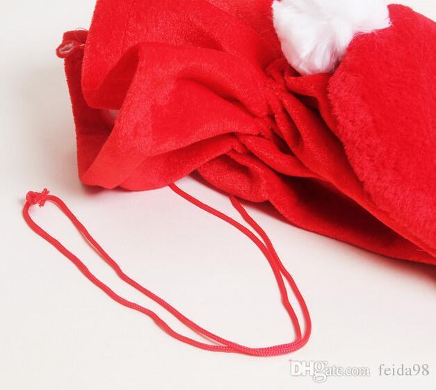 Noel Günü Dekorasyon Santa Büyük Çuval Stocking Büyük Hediye çanta Noel Noel Baba Noel Hediyeler Ücretsiz Kargo HJIA933