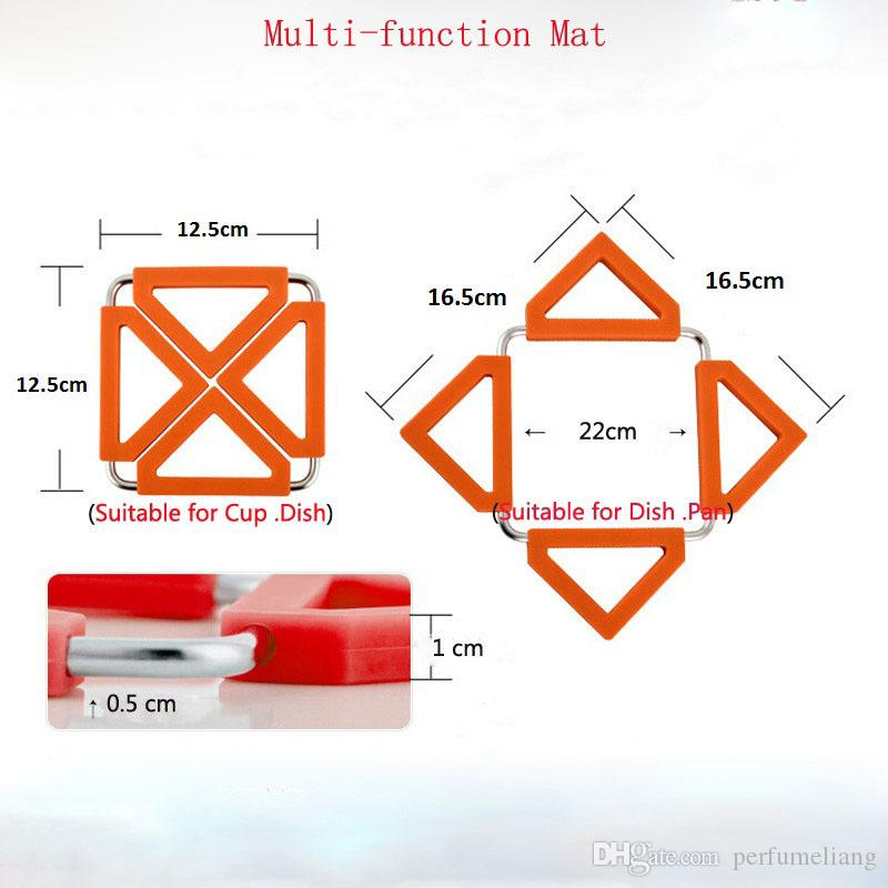 90g Aço Inoxidável Pote Titular Calor Isolado Mat Coasters Pote De Chá Não-slip Pad 2016 New Hot ZA0558