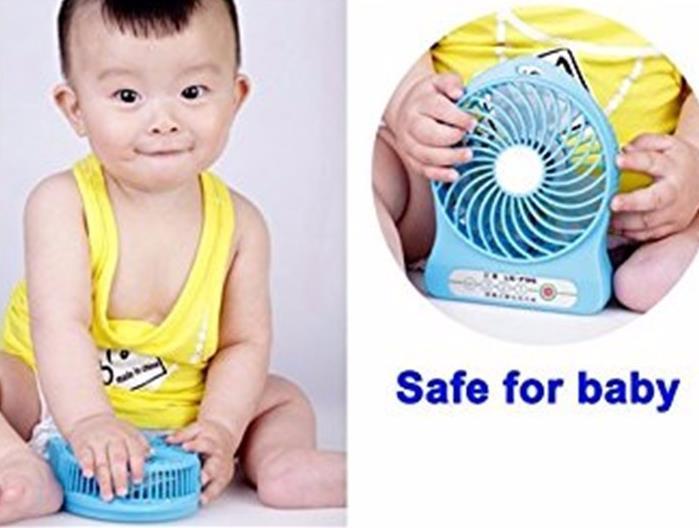Creativo portatile Mini USB Fan SPORTS Ventilatori bambini Ricarica 18650 Ventola di raffreddamento portatile alimentata a batteria Tavolo di raffreddamento Ventilatore regalo estivo