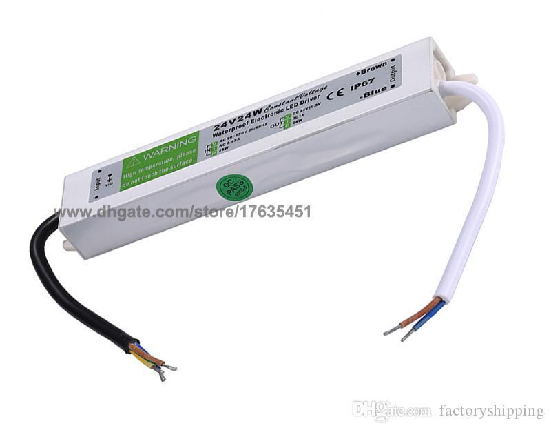 DC 24V 24W светодиодный драйвер адаптер наружного использования, 24V 1A блок питания водонепроницаемый IP67 светодиодные полосы трансформатор освещения Бесплатная доставка