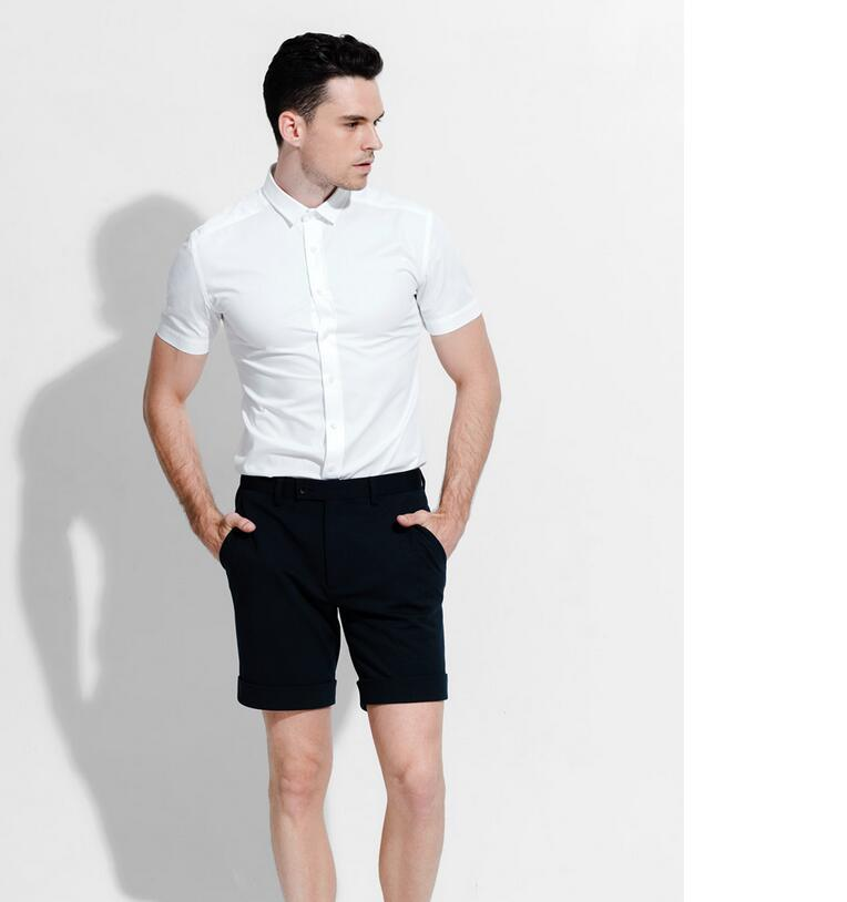 Fashion men business suits with short sleeves in summer for Mens business shirts sale