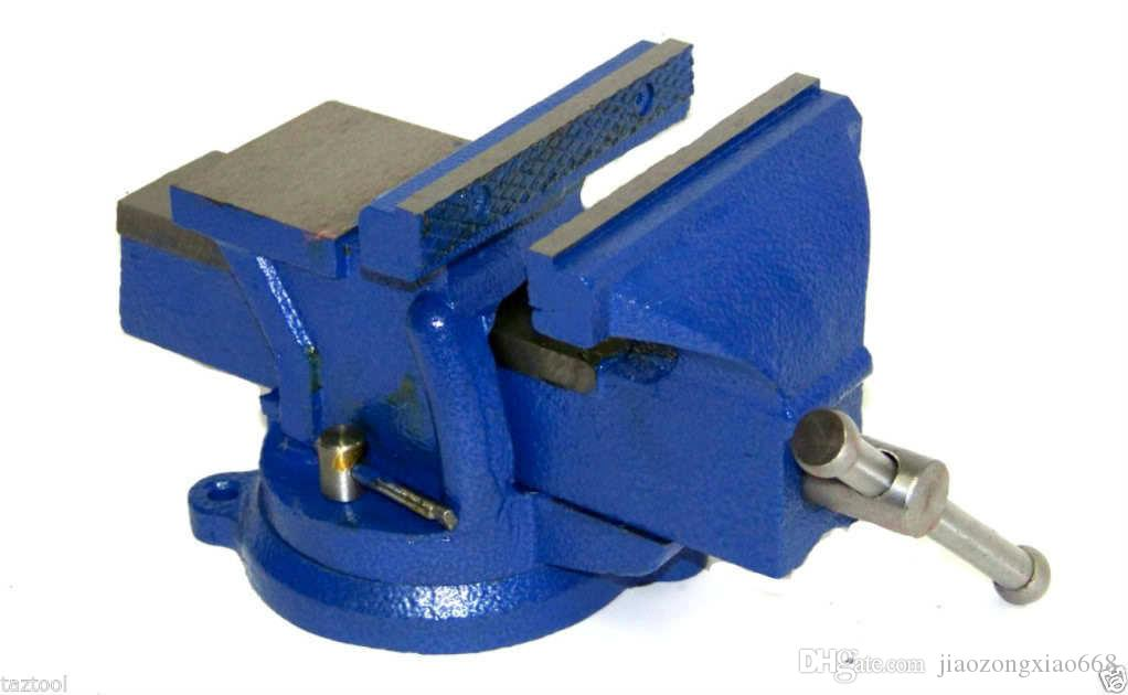 5 Bench Vise with Anvil Swivel Locking Base Table Top Clamp Heavy ...