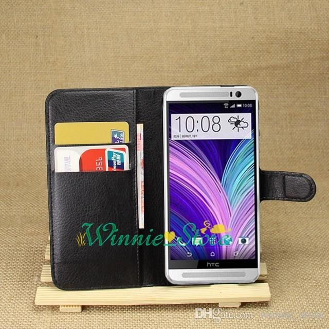 For HTC One M8 Mobile Phone Bag Wallet Stand With Card Holder Cover For HTC one 2