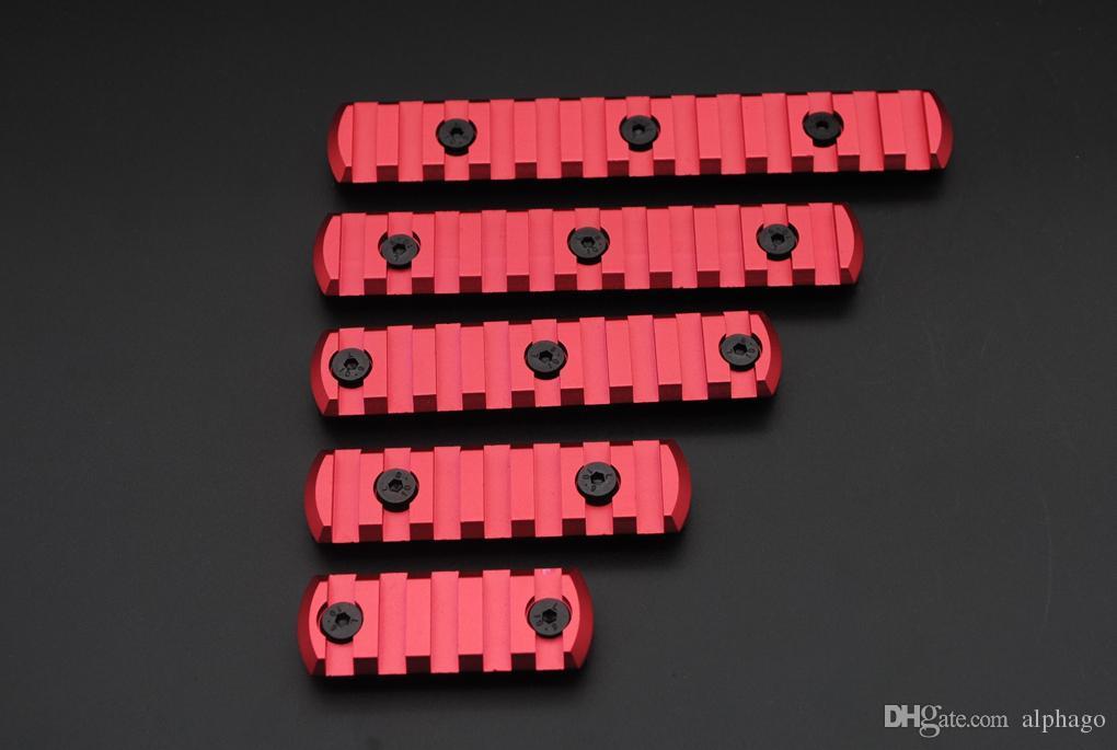 새로운 레드 5,7,9,11,13 슬롯 키 모드 핸드 가드 용 Picatinny / Weaver Rail Sections 무료 배송