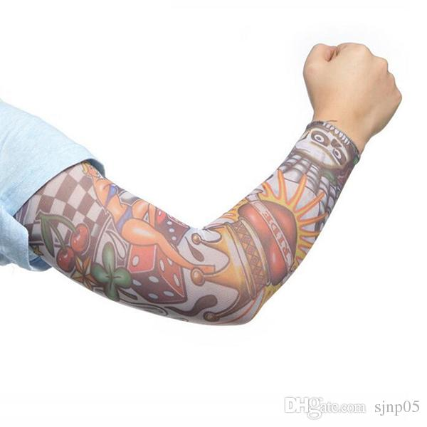 Fashion Vogue Women and Men Tattoo Sleeves Protection Rock Arm Sleeves Fishing Cycling Outdoor Sports Cool Pattern Design