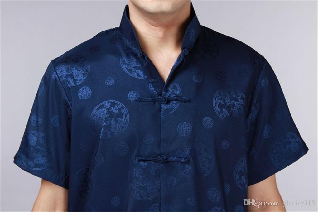 Shanghai Story Tang Suit Shirt Chinese costume Traditional Chinese ethnic clothing Tang suit mandarin collar short sleeve Kungfu shirt