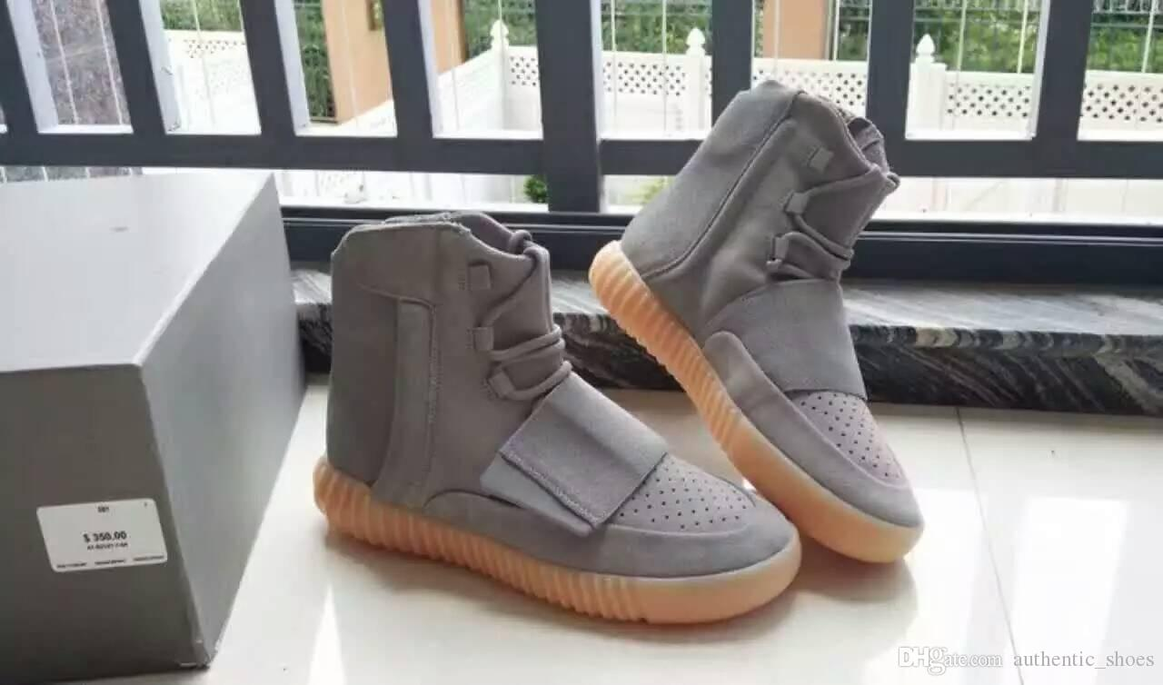 2018 brand fashion luxury designer women winter snow boots for men womens 750 Boost glow in the dark bottoms Kanye Casual running Shoes