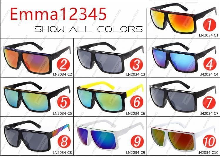 Os mais novos óculos de sol da moda FAME 2034 deslumbram refletores de mercúrio cor Quadro grande óculos de sol óculos de sol óculos de sol de qualidade