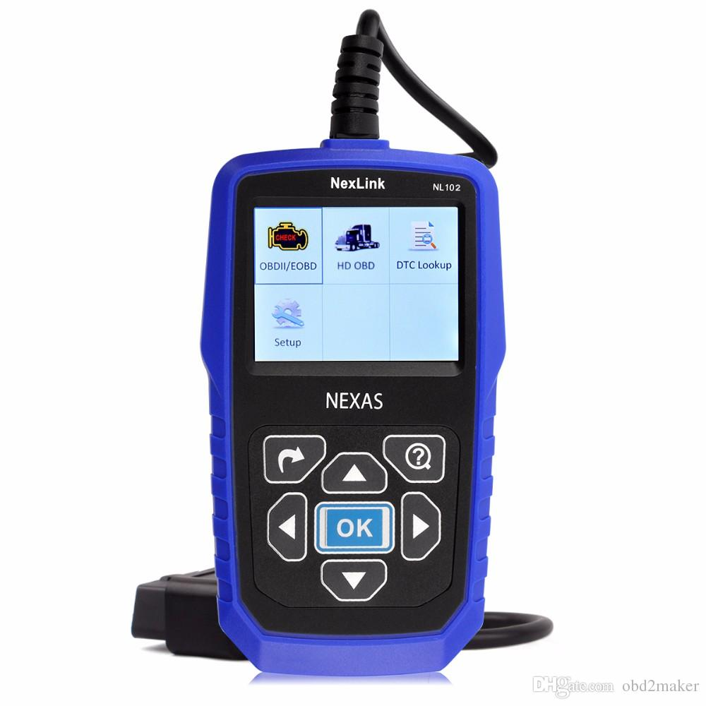 Car Truck 2 in 1 Diesel Engine Scanner for VOLVO NexLink NL102 OBD2 Heavy Duty Analyzer Diagnostic Tool with Battery Monitor