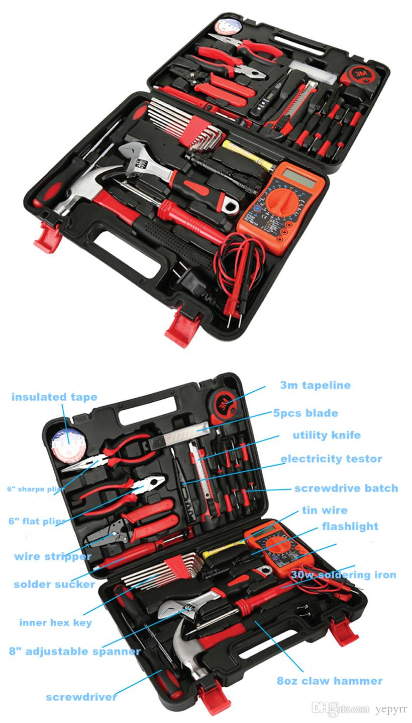 Hand Household Electric Tool Kit Set Combined Home Electrical Tool Set Domestic Portable Repairings Power Manual Tools Kit