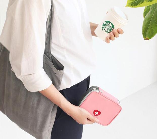 Nylon à prova d 'água saco de primeiros socorros bolsa de viagem, viagem de negócios zíperes duplos necessaries gadgets armazenamento organizador bolso saco