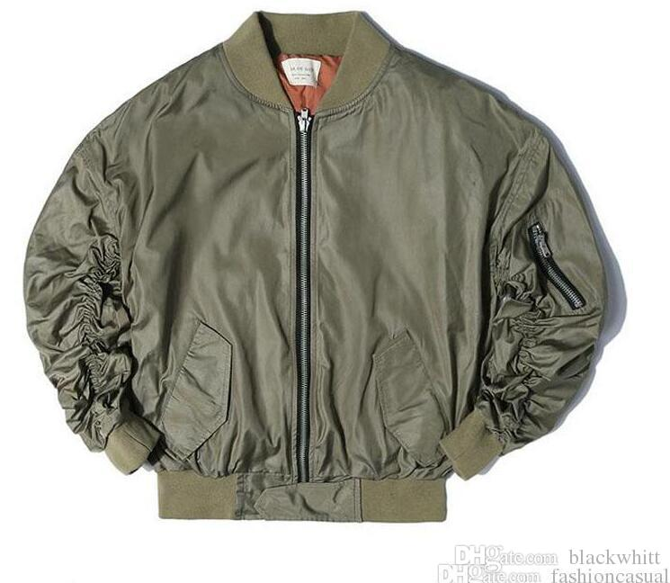 Europe et les États-Unis Hip Hop High Street Veste Kay Ye Beibo FOG oversize MA1 Air Force Costume De Mode Veste Tops