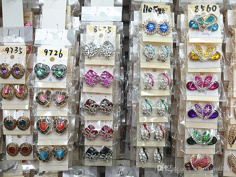 أعلى كمية الأزياء المتأنق متنوعة كريستال مجوهرات أقراط الأذن للنساء أفضل أزواج هدية بالجملة