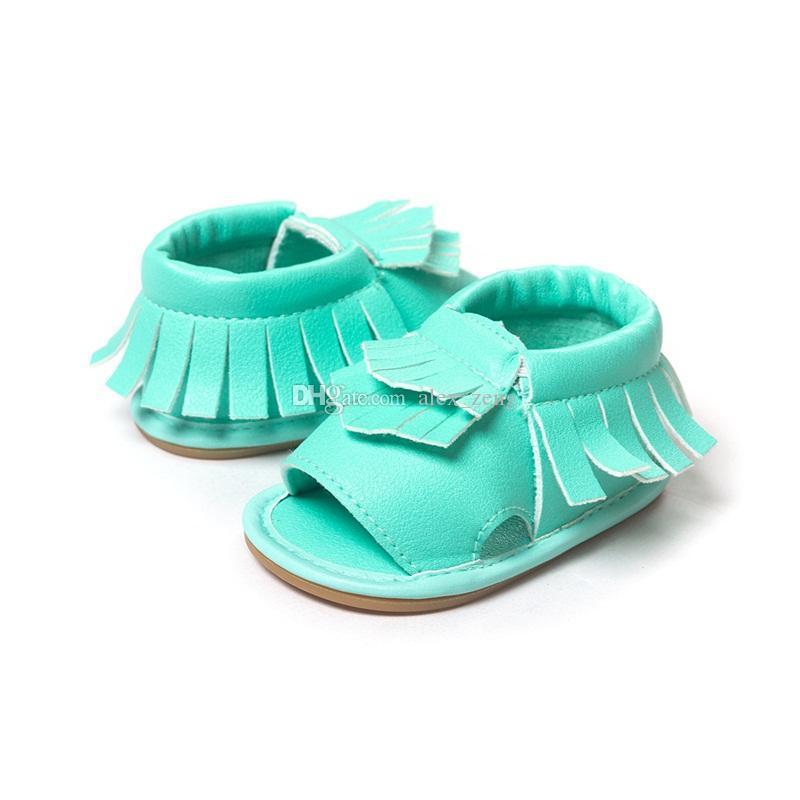 2016 مولود جديد الأخفاف أحذية الأولى ووكر شرابات sandlas حذاء طفل لينة سوليد الأحذية سوليد الصنادل 9 اللون