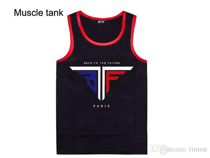 2018 new style casual hip hop high quality bttf men's muscle tank tops for men and women diamond supply