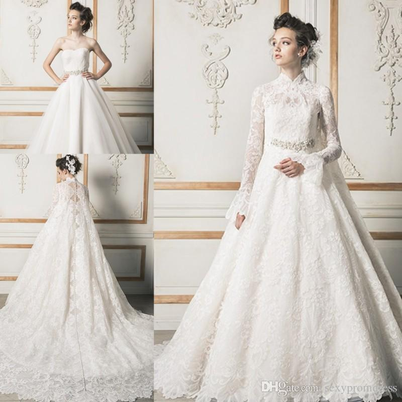 Discount New Design Sweetheart Wedding Dresses With Lace Long