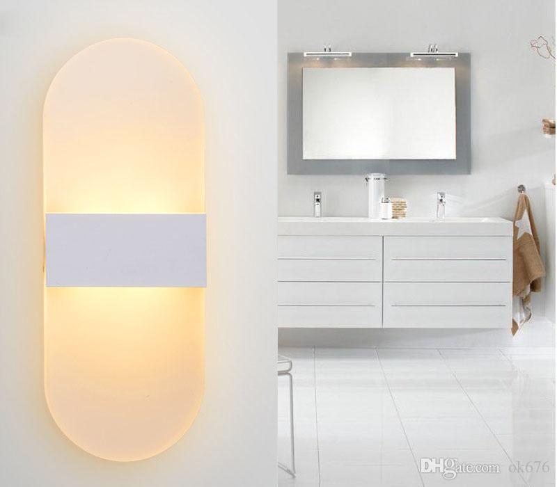 Modern Acrylic 6w LED Wall Lamp Aluminum Lights Fixture On/Off Decorative Sconce Night Light for Pathway Staircase Bedroom Balcony lamp