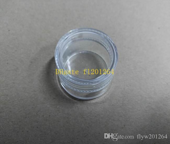 / liberan el tarro vacío claro del envío 5g, caja de empaquetado plástica de la crema del clavo de la caja 5ml, caja del polvo del brillo del arte del clavo