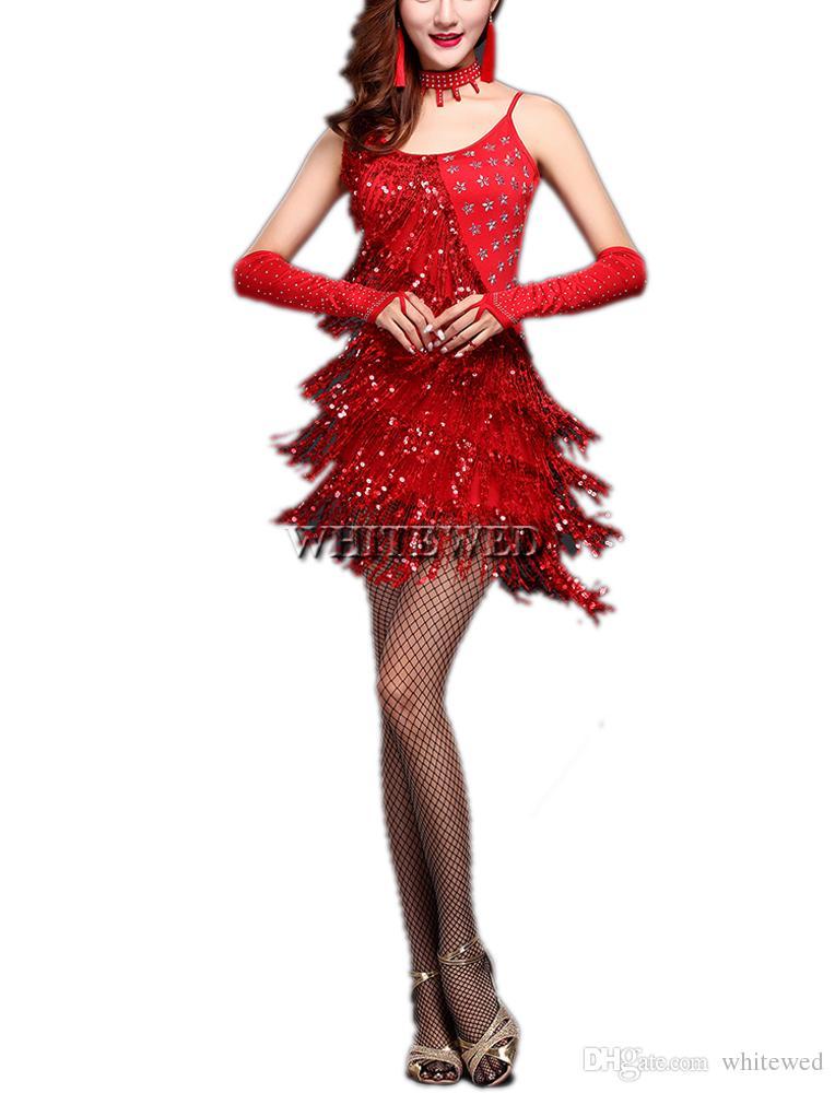 Fringe Sequin Tassel Gatsby Style Ladies Latin Ballroom