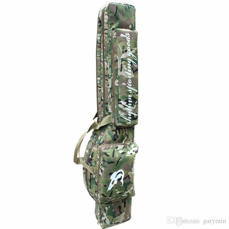 """47"""" Tactical hunting carry hand case 1.2m long rifle gun slip double hunting backpack bag Multicam ht098"""