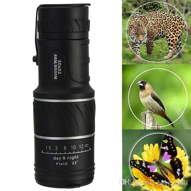 Newest Brand New High Quality Adjustable 30X52 Mini Dual Focus Optic Lens Outdoor Travel Monocular Telescope Tourism Scope Binoculars