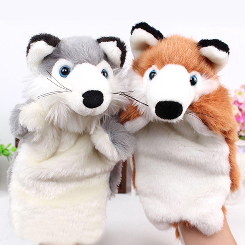 Foxs Tier Plüsch Handpuppe Puppe Spielzeug Frühe Pädagogische Kawaii Puppen Story Telling Fox Handpuppe Baby Kinder Puppe Plüschtiere
