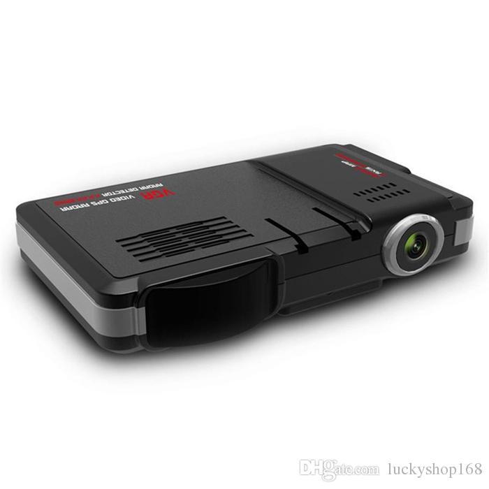 2 en 1 Coche Cámara DVR Vehículo Cámara Grabadora de video Dash Cam Registrador Videocámara Radar Láser Detector de velocidad Noche Visio DHL Envío gratis