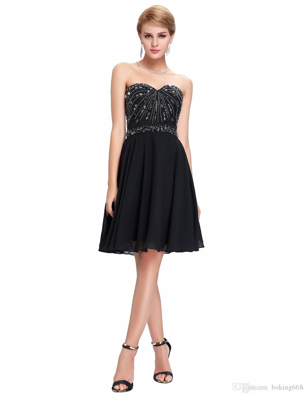 Black short cocktail dresses vestido 2016 cheap chiffon short prom black short cocktail dresses vestido 2016 cheap chiffon short prom dresses beading elegant strapless special occasion party dress grey cocktail dress long ombrellifo Image collections