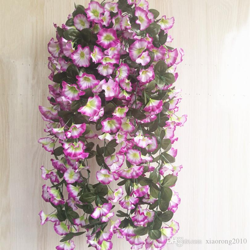 one Morning Glory Vine Hanging Vines Flower for Wedding Artificiale decorativo appeso a parete Fiore i