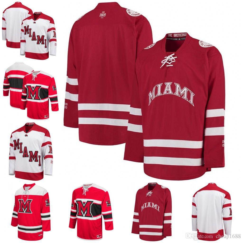 502f75bae ... stitched customize any number and  2018 custom miami university  redhawks ncaa college hockey jersey mens womens youth customize any name any