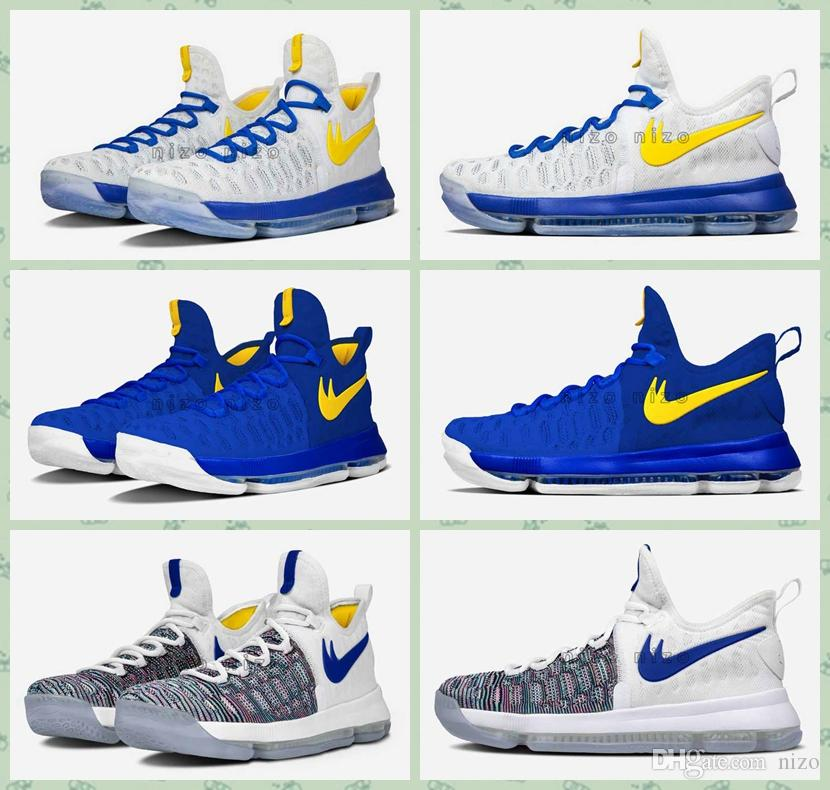 best loved ad023 8b362 9fc88 f29e3  spain 2016 kevin durant 9 basketball shoes mens kd 9 shoes  warriors away white blue gold
