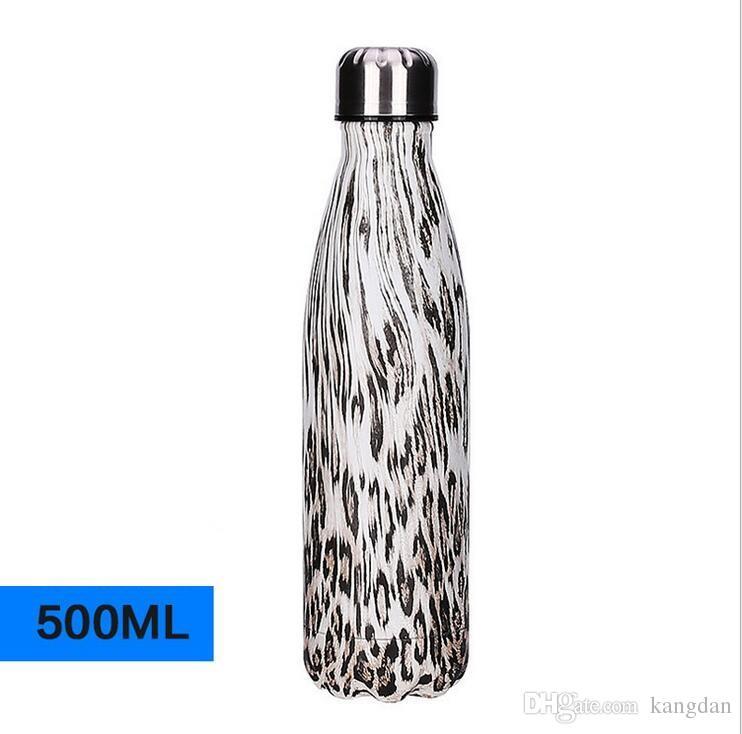 Cor de madeira 17 oz Cola Forma Vacuum Insulated Garrafa de Água de Aço Inoxidável para Esportes Ao Ar Livre Leopard Bowling Garrafas camo copo bebendo